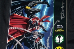 Spawn and Batman, signed
